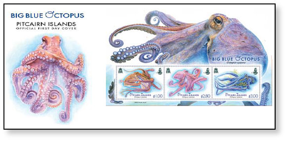 Big Blue Octopus FDC