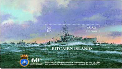 HMS Pitcairn Miniature Sheet