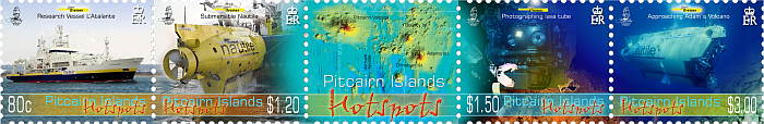 Hotspots Stamps Strip