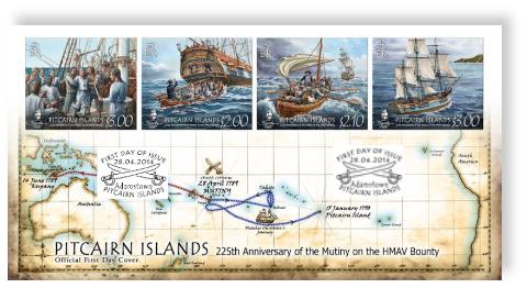225th Anniversary of the Mutiny on the Bounty FDC