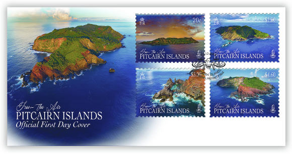 Pitcairn from the Air FDC