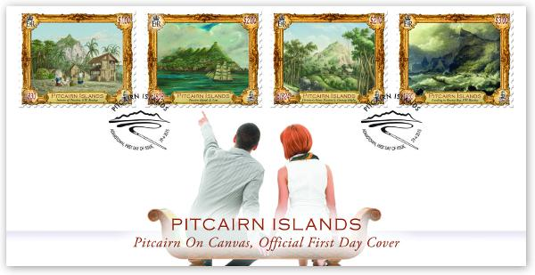 Pitcairn on Canvas FDC
