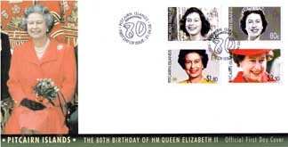 Queen 80th FDC