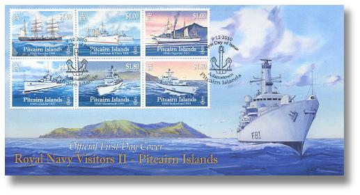 Royal Navy Visitors II FDC