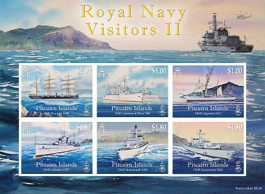 Royal Navy Visitors II mini sheet