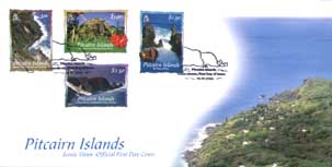 Scenery of Pitcairn FDC