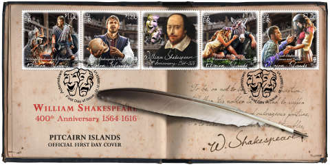 William Shakespeare 1564-1616 FDC