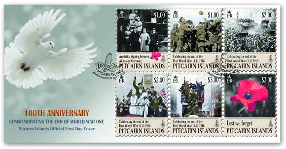 Commemorating the End of World War One FDC