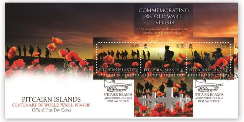 Centenary of World War I FDC