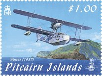 Aircraft over Pitcairn $1.00