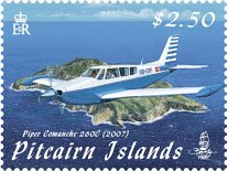 Aircraft over Pitcairn $2.50