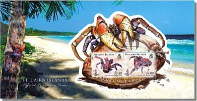 Coconut Crab Mini Sheet FDC