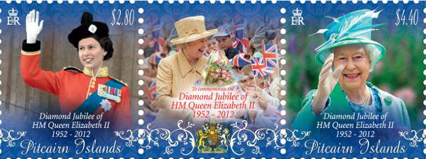 Diamond Jubilee of HM Queen Elizabeth II stamp strip