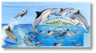 dolphins mini sheet FDC