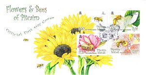 Flowers and Bees FDC