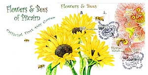 Flowers and Bees mini-sheet FDC