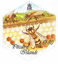 Pitcairn Island Honey Bees $1.80