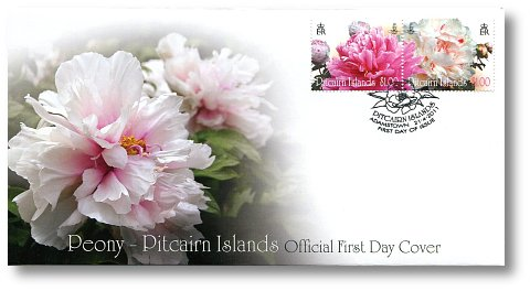 The Peony Flower FDC
