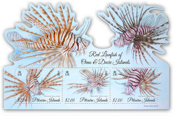 Red Lionfish miniature sheet