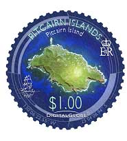 Pitcairn from Space $1.00