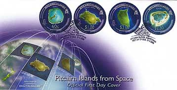 Pitcairn from Space FDC