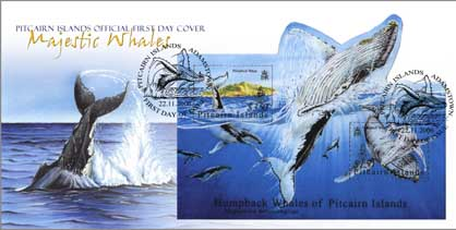 Whales Mini Sheet FDC
